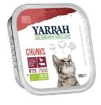 Yarrah - Chunks Kat Kuipje met Rund Bio 16 x 100 gr
