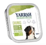 Yarrah - Natvoer Hond Kuipje Chunks met Kip Bio 12 x 150 gr