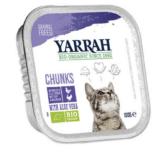 Yarrah - Natvoer Kat Kuipje Chunks met Kip & Kalkoen Bio 16 x 100 gr