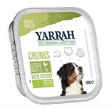 Yarrah - Natvoer Hond Kuipje Chunks met Kip & Groenten Bio 12 x 150 gr
