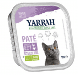 Yarrah - Paté Kat Kuipje met Kip & Kalkoen Bio 16 x 100 gr