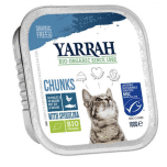 Yarrah - Chunks Kat Kuipje met Kip & Vis Bio 16 x 100 gr